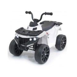 Детский квадроцикл R1 на резиновых колесах 6V - 3201 белый (кресло кожа, колеса резина, музыка, свет)